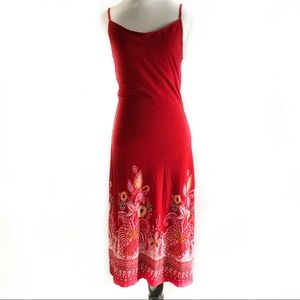Guess red floral paisley dress size medium